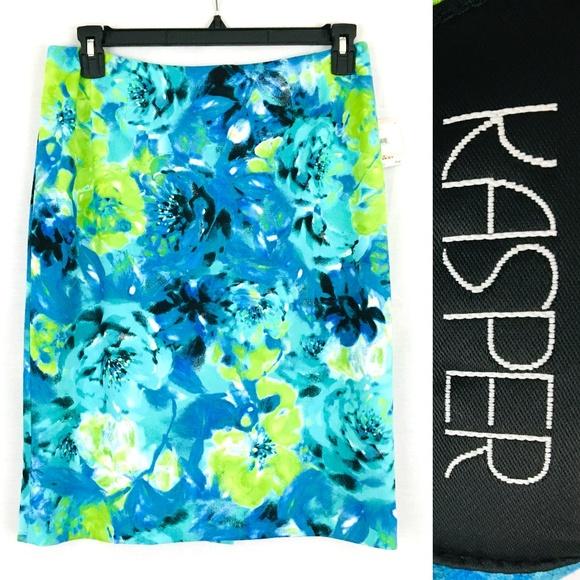 c48d01de Kasper Skirts | Cabana Blue Pencil Skirt Career Wear Sz 10 | Poshmark